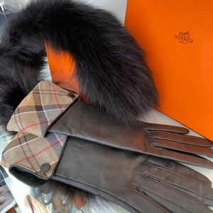 BARBOUR Lady Jane Leather Gloves NWOT